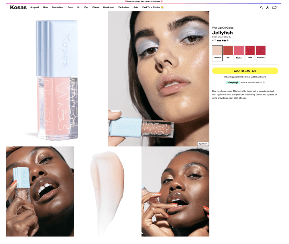 """Kosas beauty website"""