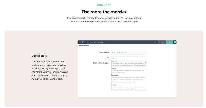 """""""Zoho website builder contributors"""""""