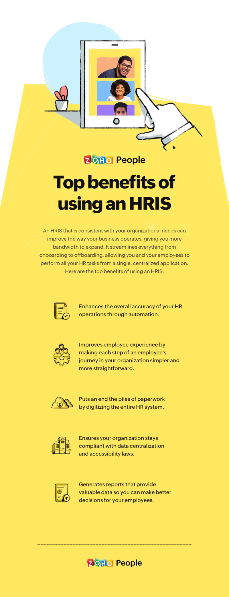 """Benefits of using an HRIS"""