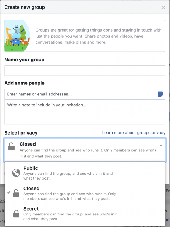 facebook group details