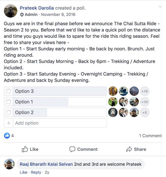facebook group polls