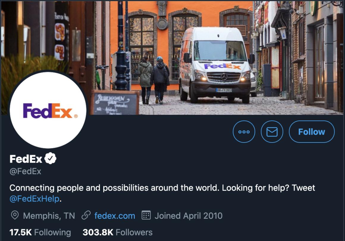 FedEx Twitter